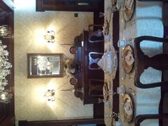 The dining room at Churchill Manor.