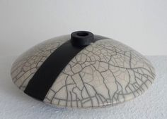 Raku vessel by Margit Hohenberger - ceramic arts