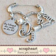 Nursing Pinning Ceremony Nurse Charm Jewelry by ScrapheartGifts