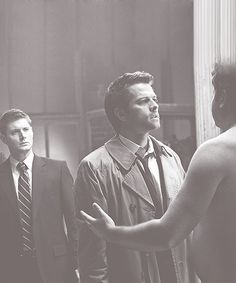 ''Is this a fight? Are we in a fight?'' ''This is... Their handshake.'' ''I don't like it.'' ''No one likes it.'' - Dean and Castiel