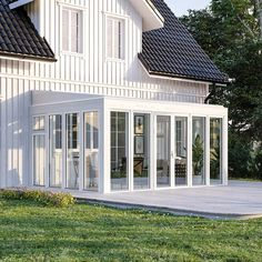 Fira - Anslutning bakkant Brutet hörn vänster Sunroom, Diy And Crafts, House Plans, Pergola, Patio, Inspiration, Decorating, How To Plan, Interior