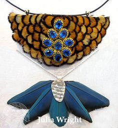 Feather chokers by Julia Wright Feather, Chokers, Artist, Blog, Beautiful, Jewelry, Fashion, Jewellery Making, Moda