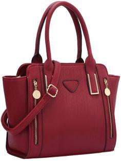 Sac en bandoulière simili cuir zippé -rouge  25.65