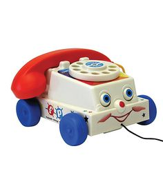 Pull telephone with blinky eyes