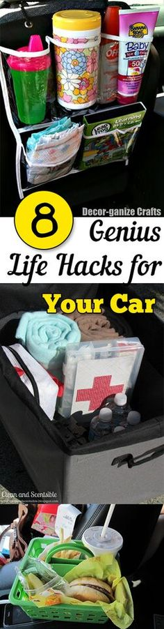 8 super clever ways to organize your car, and to make transportation easy!