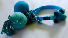 Handmade Collar Charm on Red Dingo Cat Collar and Two Matching Catnip Scented Wool Balls >>> See this great image  : Cat toys