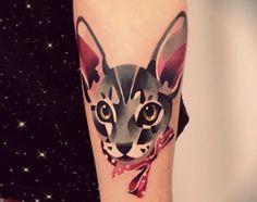watercolor tattoo cat - Buscar con Google