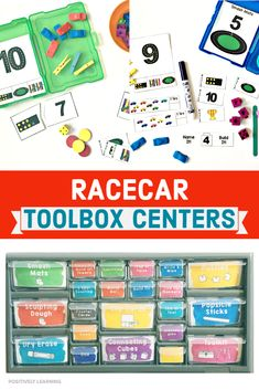 Racecar Number Sense Toolbox Centers focus on The teacher toolbox keeps math tasks and student materials all in one organized space! Lesson Plan Organization, Teacher Organization, Organized Teacher, First Grade Sight Words, First Grade Math, Teachers Toolbox, New Teachers, Curriculum Planning, Lesson Planning