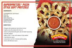 Who doesn't like pizza and pretzels?  This SuperPretzel Soft Pretzel recipe will not fail to impress!