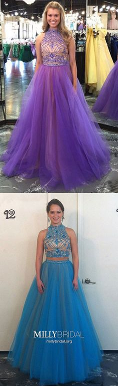 Two Piece Prom Dresses Modest,Long Formal Evening Dresses Elegant,Sparkly Military Ball Dresses Princess,Tulle Wedding Party Dresses with Beading Casual Evening Dresses, Modest Formal Dresses, Sparkly Prom Dresses, Princess Prom Dresses, Simple Prom Dress, Formal Dresses For Teens, Elegant Prom Dresses, Tulle Prom Dress, Classy Dress