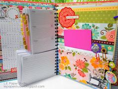DIY Personalized Planner Mini Album using Cinch and Silhouette Cameo.