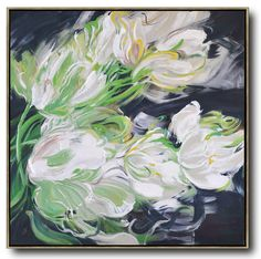 Abstract Flower Oil Painting #LX29A #Abstract #Artists_Lin-Xiang #flower-oil-painting