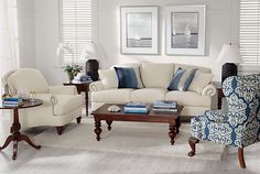 ethanallen.com - Elegance Ocean Living Room | Express | Ethan Allen | furniture | interior design