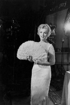 """Marilyn Monroe on the set of """"The Prince and the Showgirl"""". Photo by Milton Greene, 1956."""