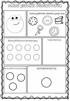 Daire Preschool Printables, Preschool Activities, Math For Kids, Math Skills, Writing Activities, Childhood Education, Pre School, Worksheets, Classroom