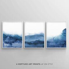 Blue Grey Walls, Navy Blue Wall Art, Grey Wall Art, Grey Art, Blue Artwork, White Art, Blue Abstract, Abstract Wall Art, Abstract Print