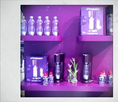 "The ""Purple Mood"" Series of Soda Makers and Flavors Soda, Vanity, Mirror, Purple, Home Decor, Dressing Tables, Beverage, Powder Room, Decoration Home"