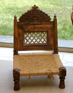 chaise sculpte pliante indienne boisjute 60