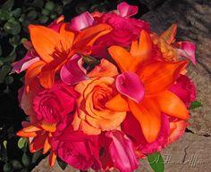 Pink and Orange Wedding Ideas   Bright pink and orange wedding ...