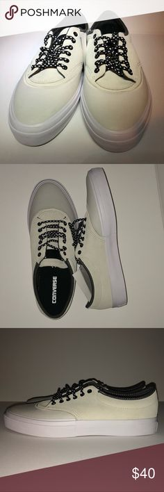 Men's Converse Cons Ox Leather Sneakers New 11.5 Converse CONS ox leather sneakers for Men's, size 11.5 Color: offwhite/beige Converse Shoes Sneakers