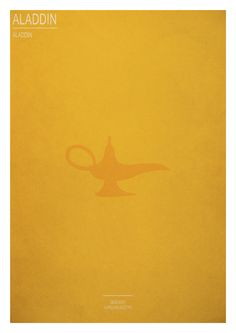 Series of poster: Minimal Disney movies by Aurélien Allétru, via Behance