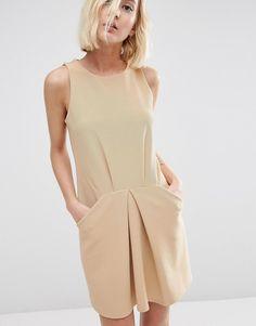 Image 3 ofASOS Origami Mini Rib A Line Dress