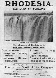 Adverts: a window on the world Zimbabwe History, Zimbabwe Africa, Historical Artifacts, Historical Photos, Day Old Chicks, History Facts, Strange History, Out Of Africa, All Nature