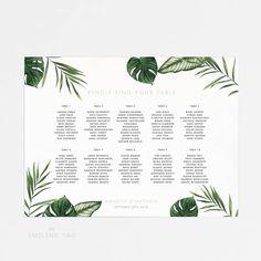 Assise graphique affiches moderne Tropical feuillage par INKKprint