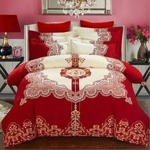 Cheap king size, Buy Quality bedding set directly from China printed bedding set Suppliers: Svetanya Wedding Red Bedlinen Print Bedding Sets Queen King Size Sanded Cotton Red Bedding Sets, Bohemian Bedding Sets, Nursery Bedding Sets Girl, Matching Bedding And Curtains, Boho Bedding, Queen Bedding Sets, Linen Bedding, Luxury Bedding, Bed Linens