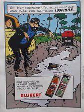 publicité  semelles ALLIBERT  tintin  1982