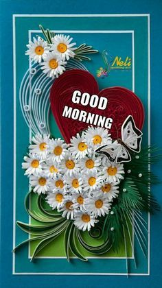 Neli is a talented quilling artist from Bulgaria. Her unique quilling cards bring joy to people around the world. Quilling Videos, Quilling Work, Neli Quilling, Paper Quilling Designs, Quilling Paper Craft, Quilling Techniques, Quilling Patterns, Good Morning Picture, Good Morning Flowers