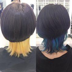 WEBSTA @ mayu333 - BEFORE とAFTER 青にするのに必要なブリーチはこれ!BEFORE の状態はまるでプロレスラー※コンテストに出る訳ではないCut by @takuya_8760 Color by @mayu333  #japan #طوكيو #Tokyo #هاراجوكو #Harajuku #صالون #hairsalon #صبغة #صبغات #صبغات_شعر #haircolor #قص_شعر #トニガイカラー#ヘアカラー#blue#beforeafter #graduation #トニーアンドガイ#トニガイ#toniguy#ハイトーン#ヘアカラー#グラデーション#原宿#プロレスラー#トニガイ神宮前 #クラゲ#アニメ#マニパニ#青髪