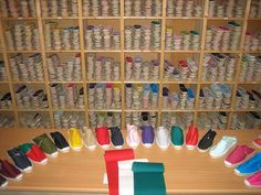 Typical alpargateria in Spain - to see our espadrille choice please visit www.espadrillestore.com