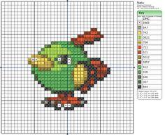 Pokémon – Natu 20x20 - 30x30, Animals, Birdie's Patterns, Birds, Gaming, M - P, Natu, Pokémon 0 Comments Jul 112012