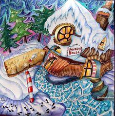 Colouring Coloring Books Magical Christmas Ideas North Pole Magic City Ps Meditation Art Colored Pencils