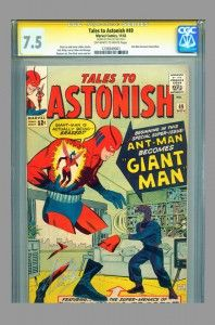 First appearance of Giant Man in Tales to Astonish #49. CGC SS 7.5 signed by Stan Lee and now on www.vaultcollectibles.com #stanlee #talestoastonish #giantman #antman #avengers