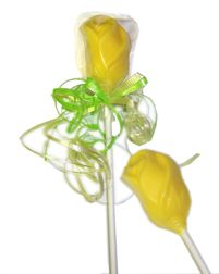 Chocolate Long Stem Rose Buds - Perfect for a Beauty and the Beast wedding favor!!