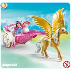 Playmobil 5143 Princess Fantasy Castle Pegasus Carriage for sale online Play Mobile, Dino Toys, Cat Toys, Pegasus, Unicorn Princess, Disney Princess, Kids Questions, Playmobil Toys, Fantasy Princess