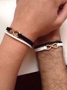 Couples Bracelets friendship love cuff infinity yin and yang bracelet leather braid gift boyfriend girlfriend SPECIAL OFFER! of equal or lesser value