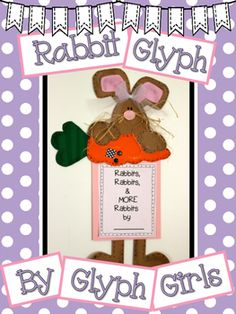 Rabbit Glyph by Glyph Girl. Writing AND Math!