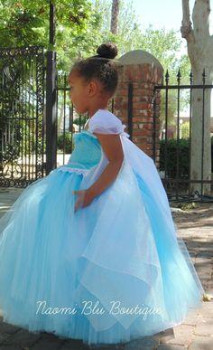 Disney Inspired Frozen Princess Queen Elsa Tutu Dress. by NaomiBlu