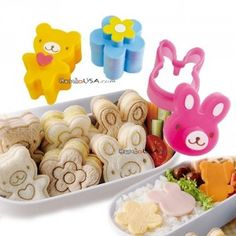 Japanese Bento Accessories Sandwich Cutter Small Animal and Flower