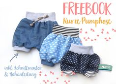 Kurze Pumphose A Lybstes Freebook for short summer pants – yeah! And in all sizes: The bloomers goes summer, including sewing pattern and sewing [. Sewing For Kids, Baby Sewing, Free Sewing, Diy For Kids, Baby Outfits, Kids Outfits, Short Bebe, Traje Casual, Diy Mode
