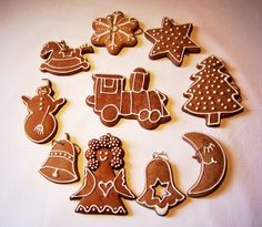Bread Cake, Gingerbread Cookies, Christmas Decorations, Xmas, Sweet, Gifts, Kitchen, Noel, Gingerbread Cupcakes