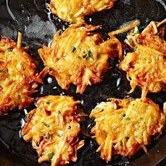Potato Latkes, traditional Jewish potato-onion fritters with tender centers and lacy rims.