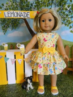 American Girl doll clothes dress 18 doll clothes by SewCuteJune