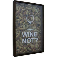 Quadro Porta-Rolhas Wine Not? Natural 30x50x5cm - Kapos
