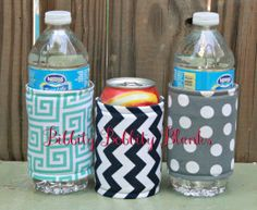 PDF Tutorial & Pattern to Make Boutique Insulated Foam Fabric Koozies or Can Wraps
