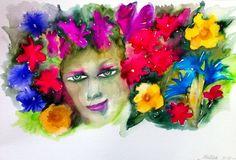 Donna in fiore