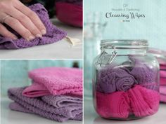 Make your own Disinfecting Wipes Homemade Cleaning Supplies, Cleaning Recipes, Cleaning Hacks, Cleaning Solutions, Homemade Wipes, Cleaners Homemade, Disinfecting Wipes, Old Towels, Natural Cleaning Products